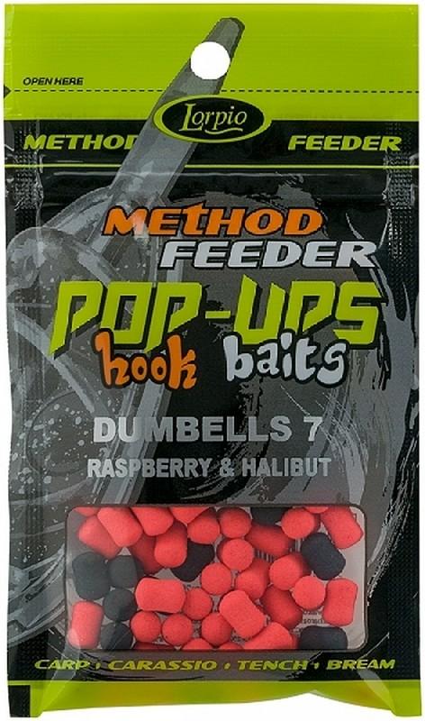 Lorpio - Hook Baits Pop Up Dumblles 8mm Rasbbery Halibut 15g