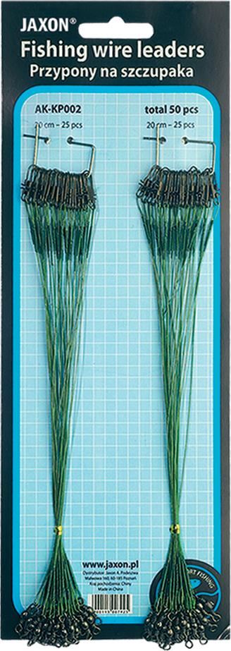 Tablo Lanek 72 ks WIRE LEADERS BOARD Breaking strain 8kg Length 15cm,20cm,25cm