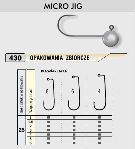 Kamatsu – Jigová hlavička MICRO 2g/vel.4