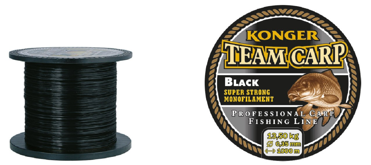 Konger Vlasec Team Carp Black 600m/0,28mm
