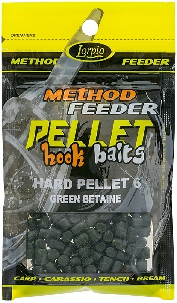 Lorpio - Hook Baits Hard Pellet 6mm Green Betaine 25g