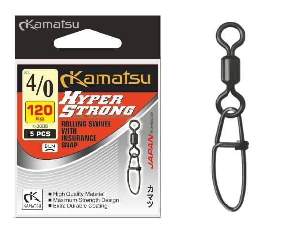 Kamatsu – Pevnostní obratlík s karabinou 5ks vel.3/0/90kg