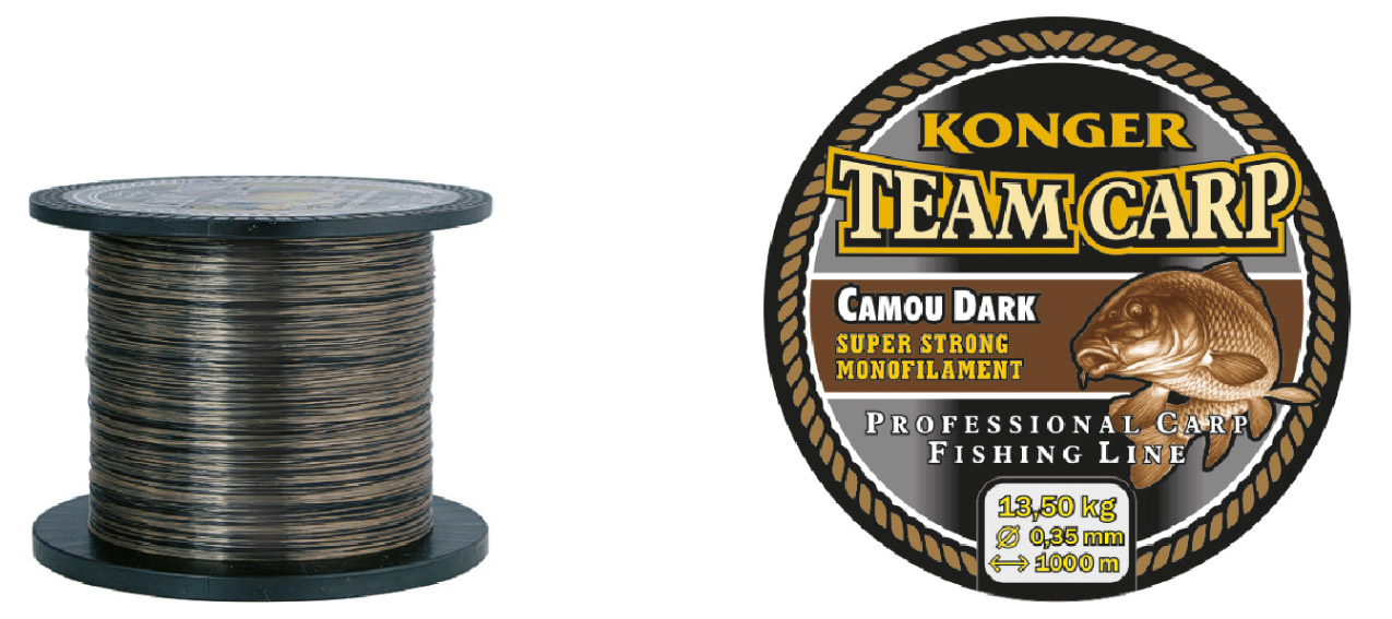 Konger Vlasec Team Carp Camou Dark 1000m/0,25mm