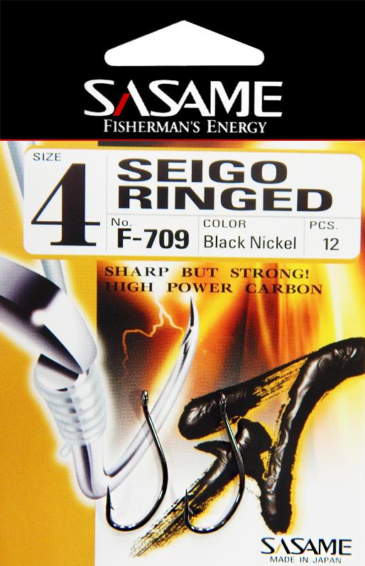 Sasame - Háček Seigo Ringed s očkem vel.4