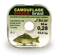 Broline Odhozová šňůrka Camouflage Shock 0,28 50m